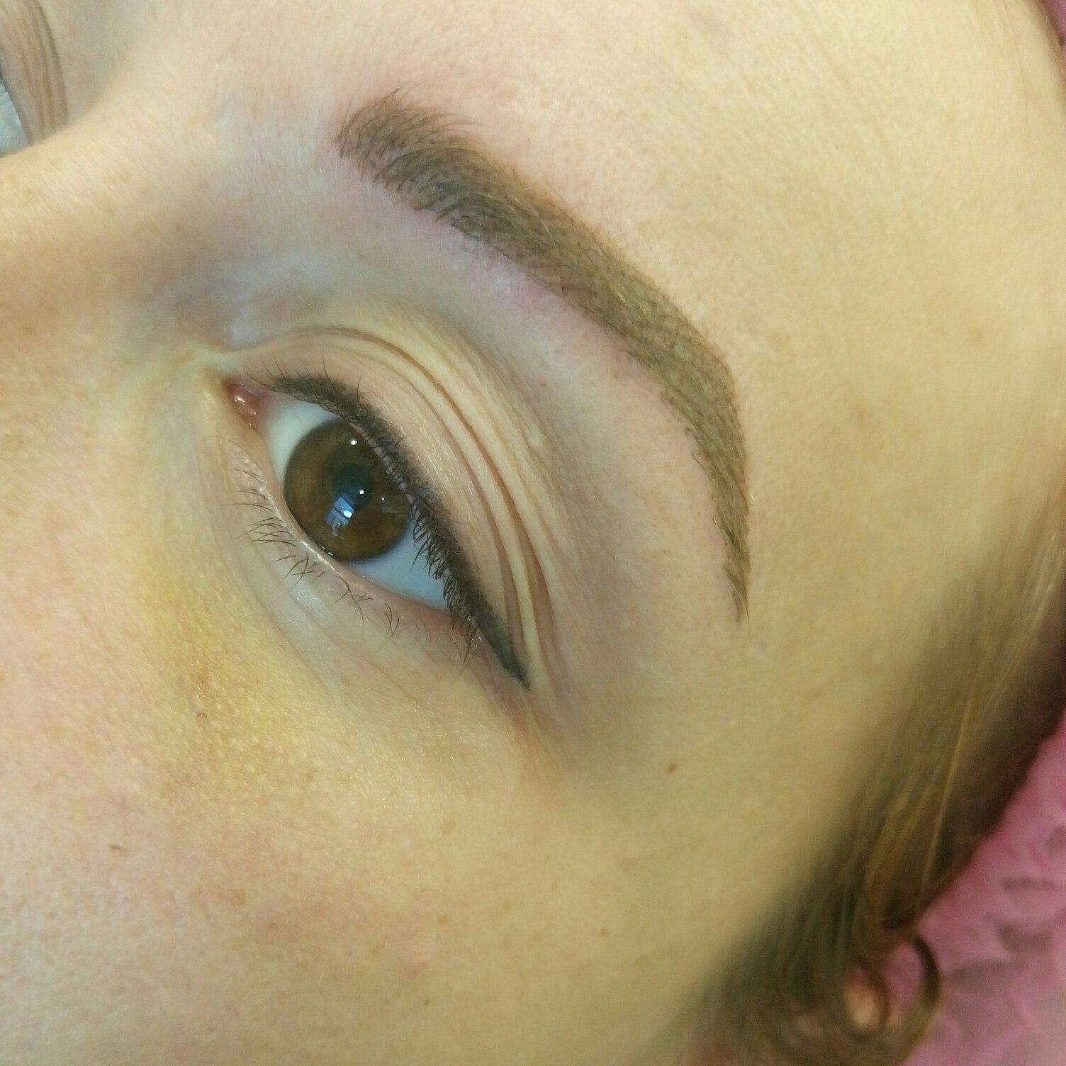 Перманентный макияж для бровей фото